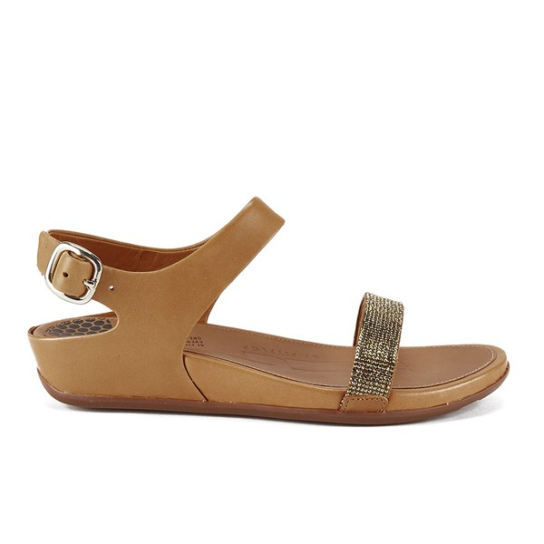 63ec05f70289 FitFlop Women s Banda Micro-Crystal Sandals - Tan  Image 1