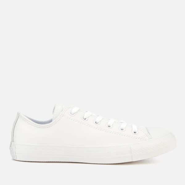 d59a19be6c03 Converse Chuck Taylor All Star Ox Leather Trainers - White Monochrome   Image 1