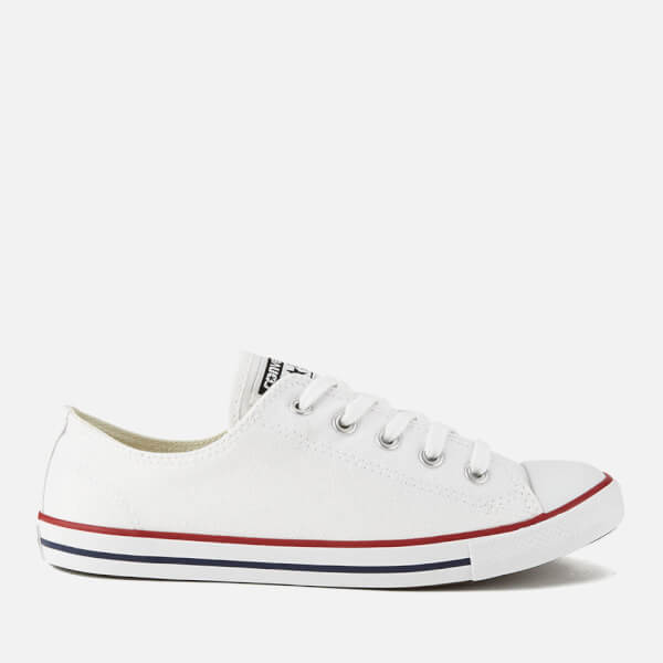 e2441762f8ae3 Converse Women s Chuck Taylor All Star Dainty Ox Trainers - White  Image 1