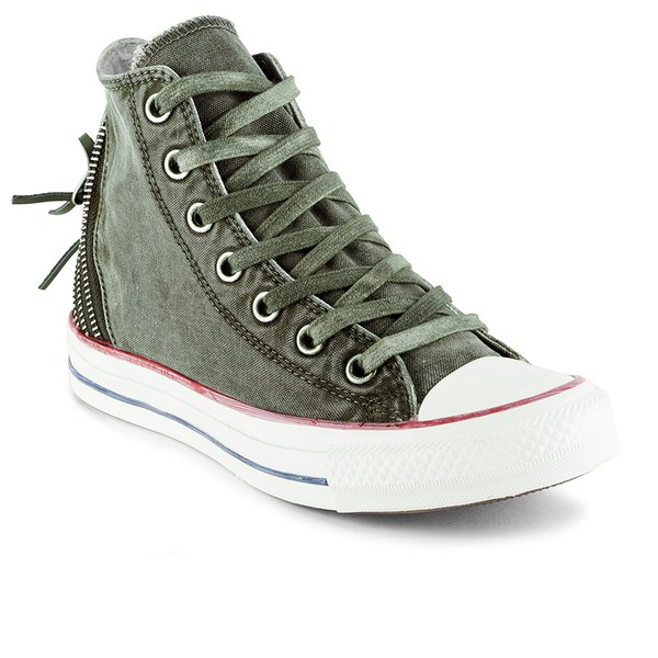 7a5f10ddf62 Converse Women s Chuck Taylor All Star Canvas Tri-Zip Hi-Top Trainers -  Surplus