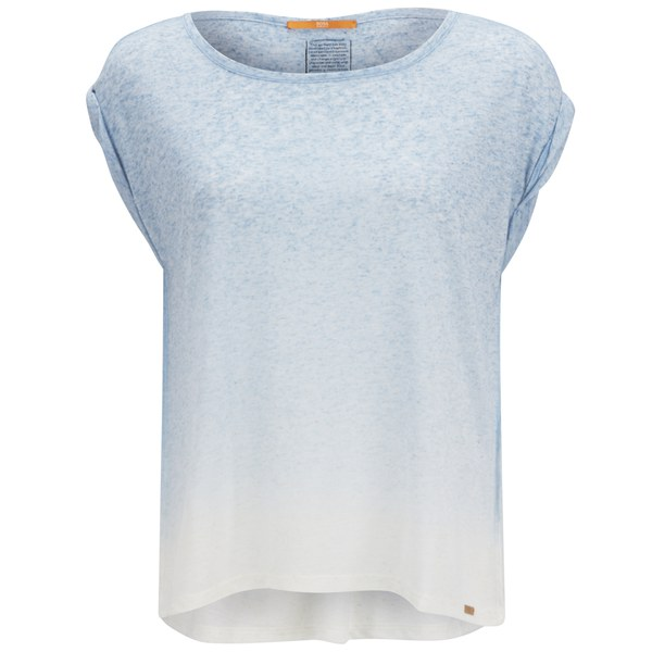BOSS Orange Women's Todiscover Dip-Dye T-Shirt - Light/Pastel Blue ...