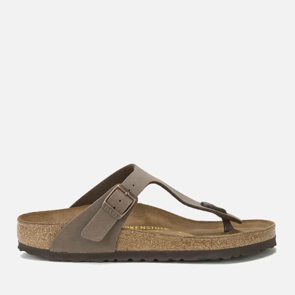 23ac63777bad Birkenstock Women s Gizeh Toe-Post Leather Sandals - Mocha  Image 1