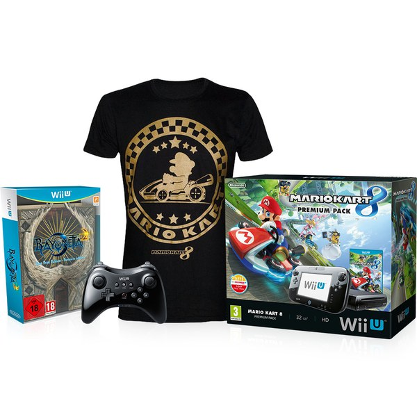 Wii U Bayonetta 1 + 2 First Print Edition Action Pack (T-Shirt - Medium)