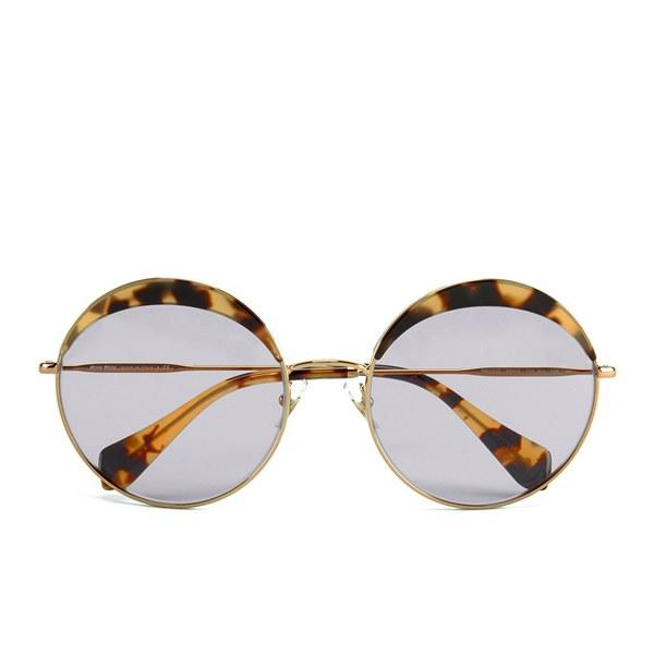 Miu Miu Round Women's Sunglasses - Light havana