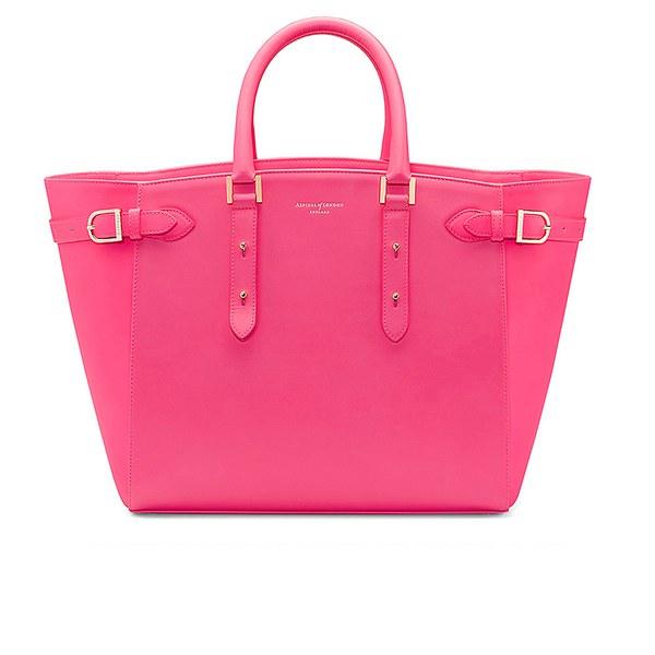 Aspinal of London Marylebone Tote Bag - Smooth Neon Pink