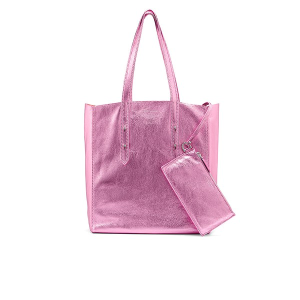 Aspinal of London Essential Tote Bag - Metallic Pink Nappa