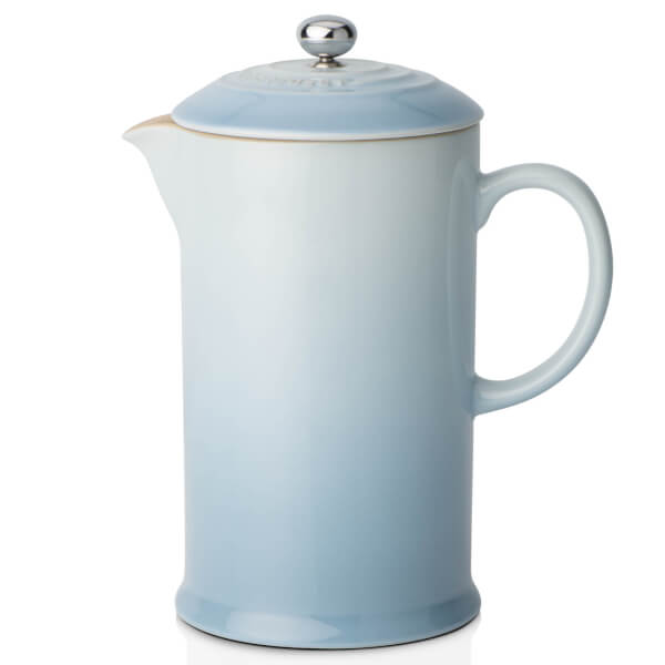 Le Creuset Stoneware Cafetiere Coffee Press - Coastal Blue