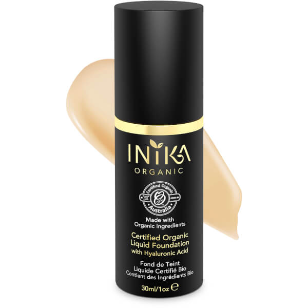 INIKA Certified Organic Liquid Mineral Foundation (Diverse farger)