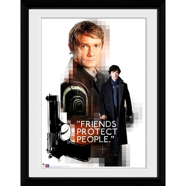 Sherlock Friends Protect - 16x12 Framed Photographic