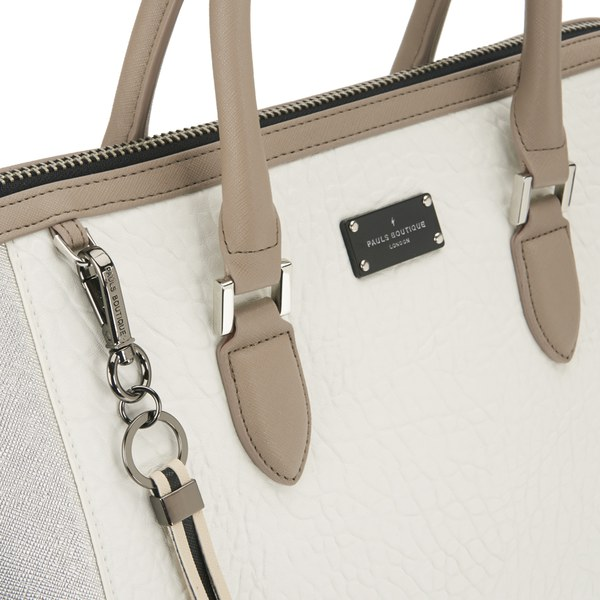 Paul s Boutique Women s Betsy Tote Bag - Metallic Brushed Silver  Image 3 7d4bd36df81e7