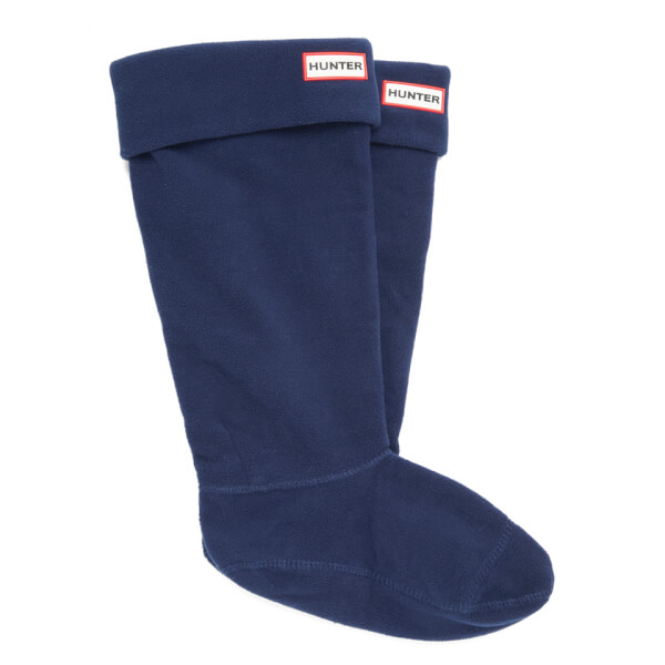Hunter Unisex Tall Fleece Welly Socks - Navy