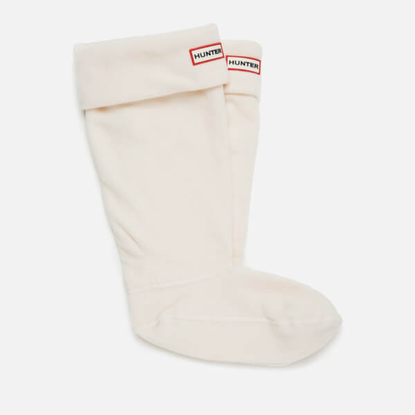 Hunter Unisex Tall Fleece Welly Socks - Cream