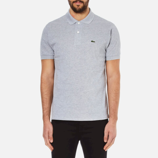 Lacoste Men's Short Sleeve Polo Shirt - Silver Chine