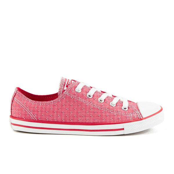 784584e2034 Converse Women s Chuck Taylor All Star Dainty Chambray Canvas Trainers -  Casino  Image 1