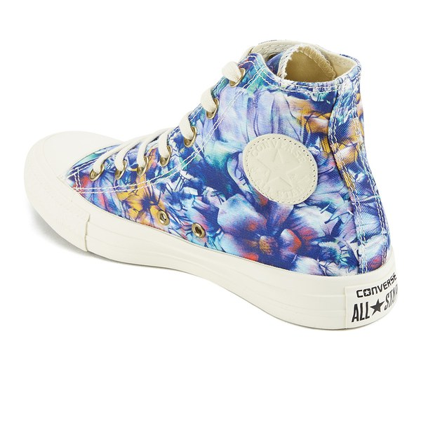 Converse Women s Chuck Taylor All Star Floral Print Hi-Top Canvas Trainers  - Peacock Multi e3917f95c9