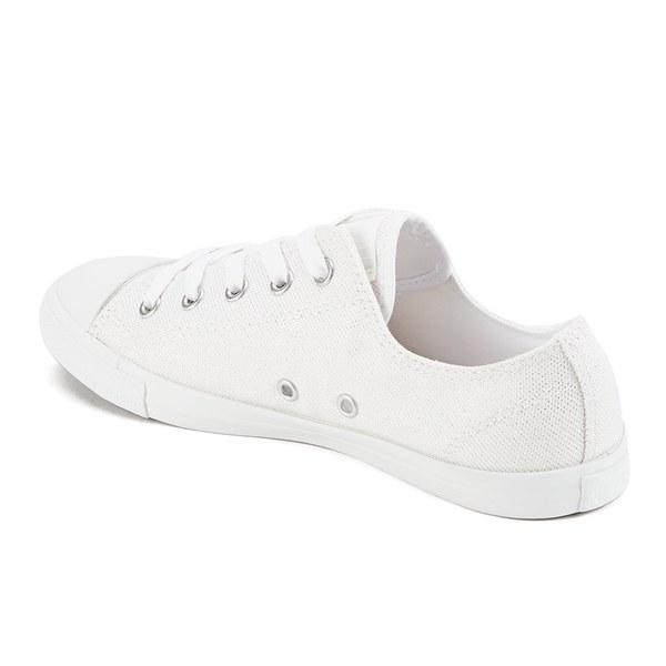 3c5c3940ecd7 Converse Women s Chuck Taylor All Star Dainty Sheer Summer Shimmer Trainers  - White Powder