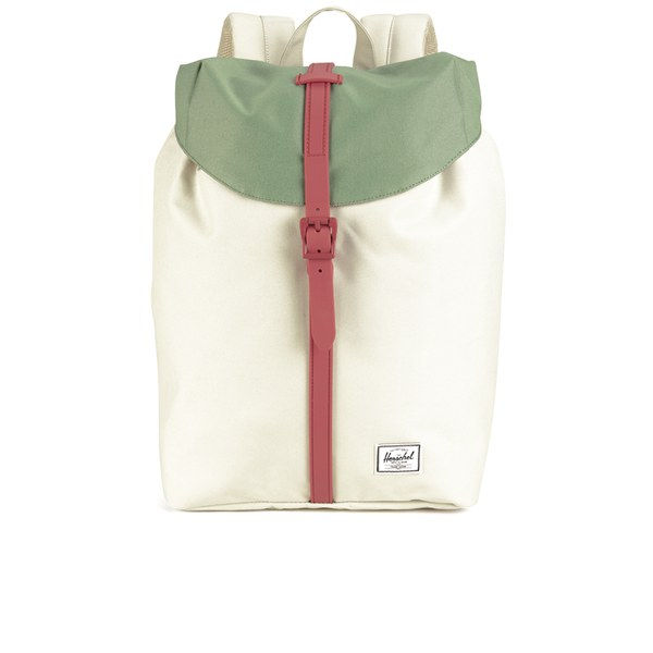 Herschel Supply Co. Women's Post Mid Volume Backpack - Natural/Foliage/Flamingo Rubber