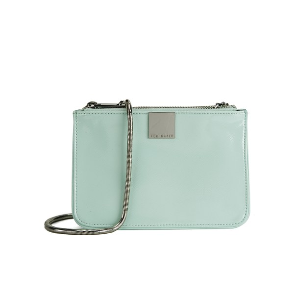 Ted Baker Women S Alisa Zip Crosshatch Cross Body Bag Mint Image 1