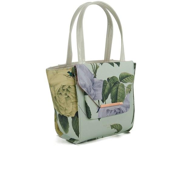 6ba2401834f4 Ted Baker Women s Damaris Distinguish Rose Crosshatch Small Tote Bag - Mint   Image 2