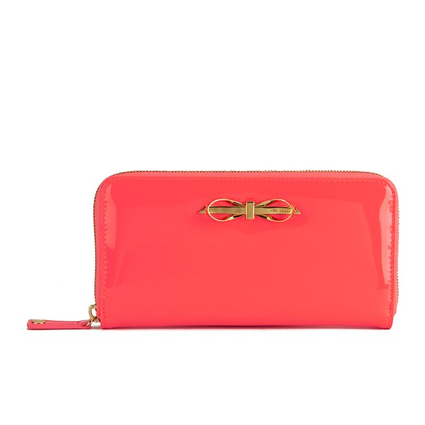 Leather Zip Around Matinee Purse Ted Baker