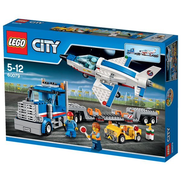 Jet Privato Lego City : Lego city training jet transporter toys thehut
