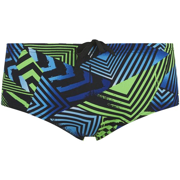 Zoggs Men's Optic Sport Swim Briefs - Black/Green/Blue