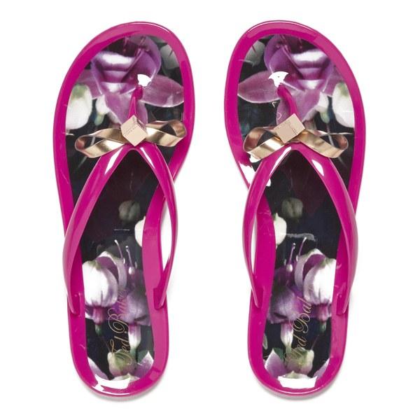 c261c5a5954115 Ted Baker Women s Taito Bow Flip Flops - Fuchsia  Image 1