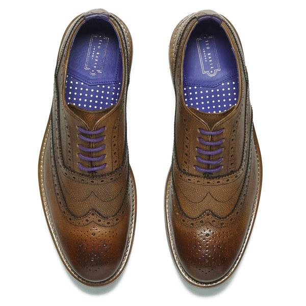 0855d9d22dce6d Ted Baker Men s Guri 7 Leather Brogue Shoes - Tan  Image 2