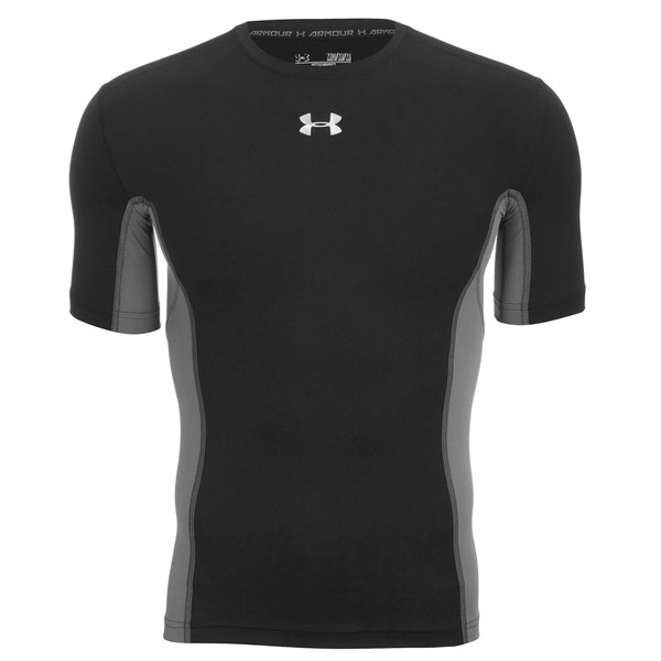 Under armour men 39 s heat gear armourstretch short sleeve for Under armour lifting shirts