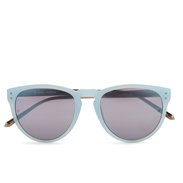 Linda Farrow Women's Matt Sunglasses with Blue Mirror Lens - Iris