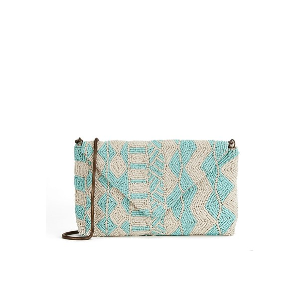 BeckSöndergaard Women's O-Summer Geo Beaded Cross Body Bag - Light Aqua