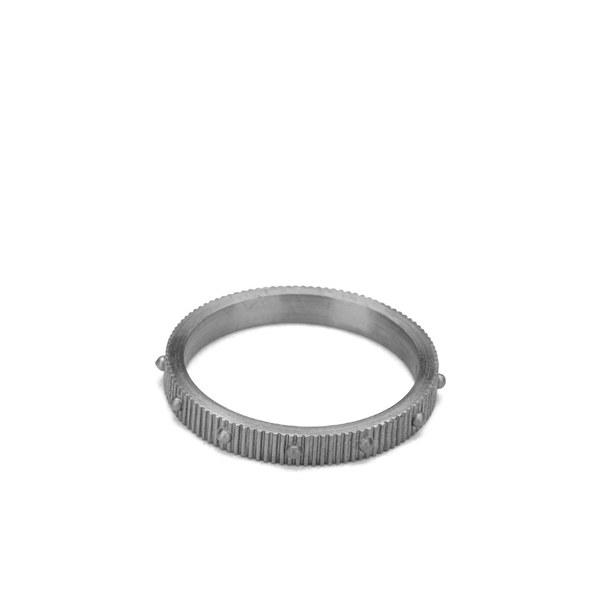 Line & Jo Women's Miss Ragains Sterling Silver Stud Ring - Grey