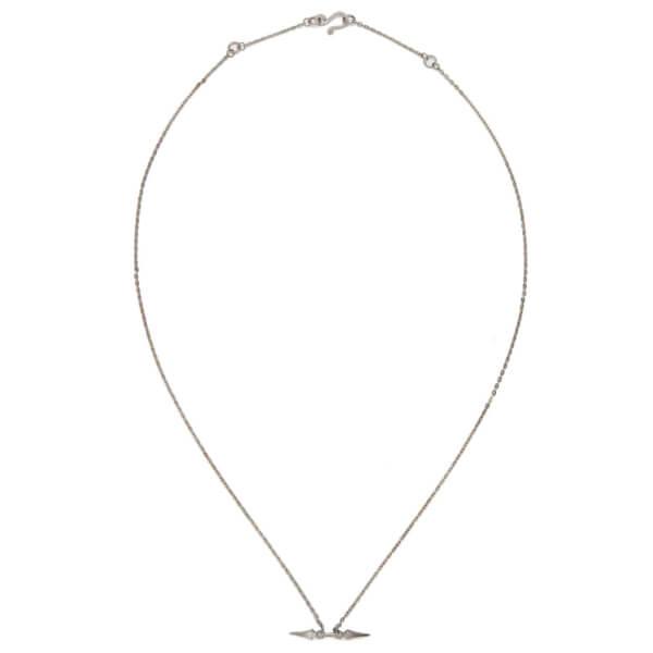 Line & Jo Women's Miss Namia Sterling Silver Spike Necklace - Grey