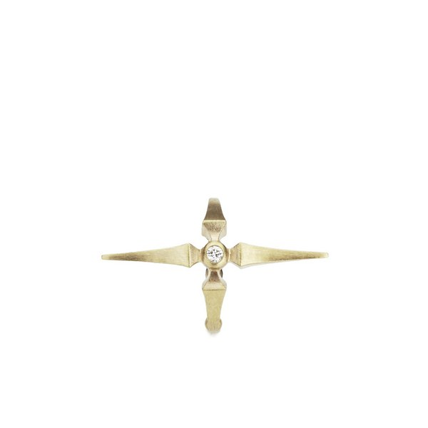 Line & Jo Women's Miss Elva Gold Diamond Ear Cuff
