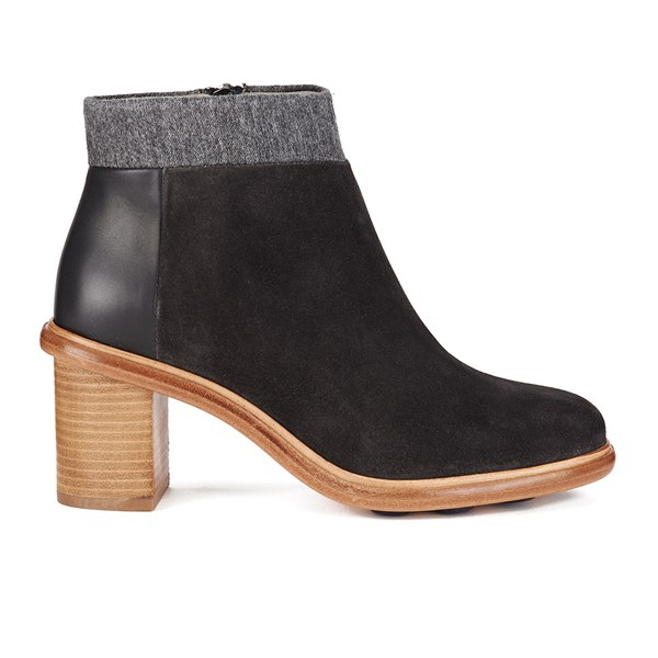 Paul Smith Shoes Women's Kendall Suede Heeled Ankle Boots - Graphite