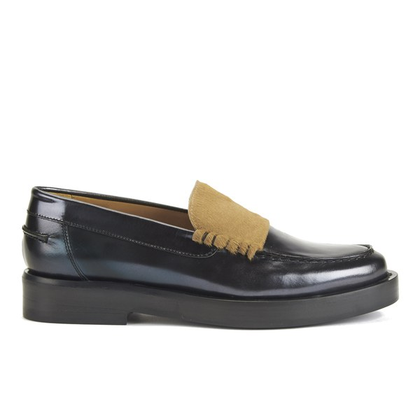 Paul Smith Shoes Women's Logan Leather Slip On Loafers - Graphite