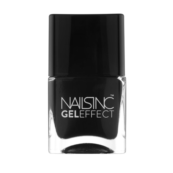 nails inc. Black Taxi Gel Effect Nail Varnish (14 ml)