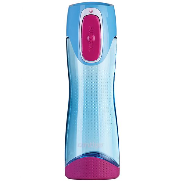 Contigo Swish Autoseal Drink Bottle (500ml) - Sky Blue/Magenta