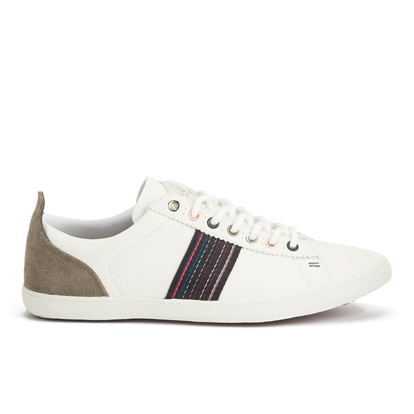 Paul Smith Shoes Men S Osmo Leather Trainers White Mono