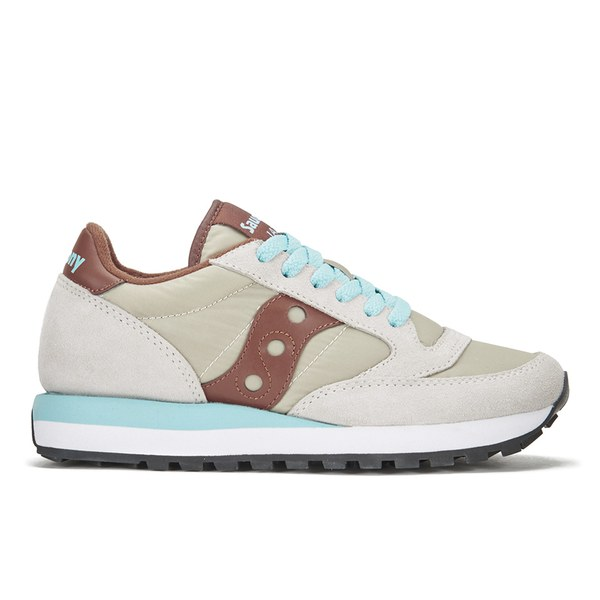 Saucony Women's Jazz Original Trainers - Light Tan/Brown: Image 1