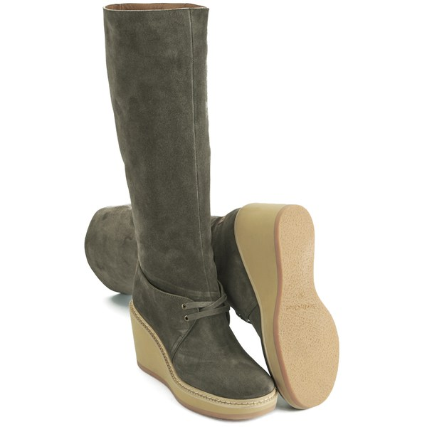 See by Chloé Suede Wedge Boots release dates cheap price XOVwdk