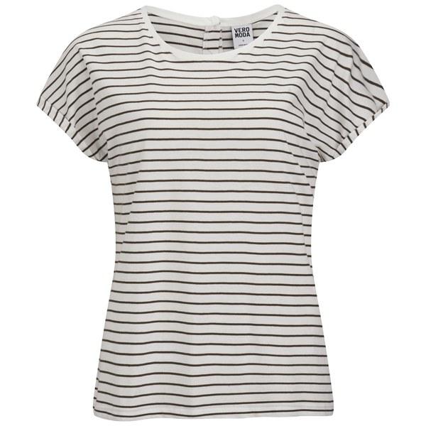 Vero Moda Women's Stripe T-Shirt - Ivy Green