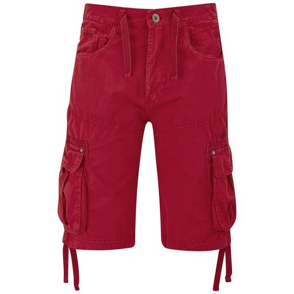 Crosshatch Men's Oprah Twill Cargo Shorts - Formula One Red Mens ...