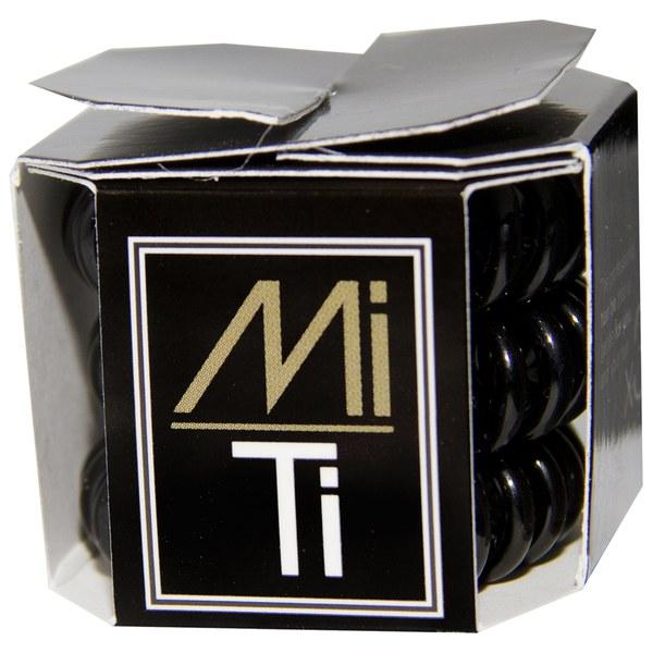 Élastiques professionnels pour cheveux de MiTi - Noir Minuit(3pc)
