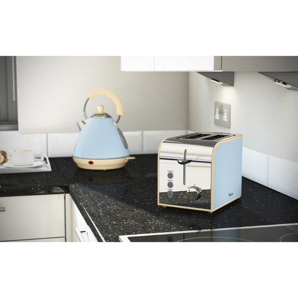 swan st17020bln 2 slice toaster blue homeware