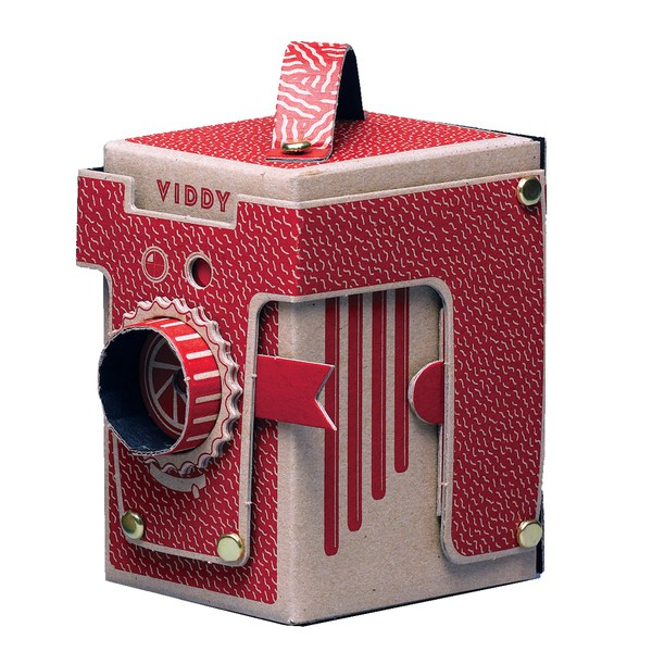Viddy Pop Up Pinhole Camera Kit Red Unique Gifts