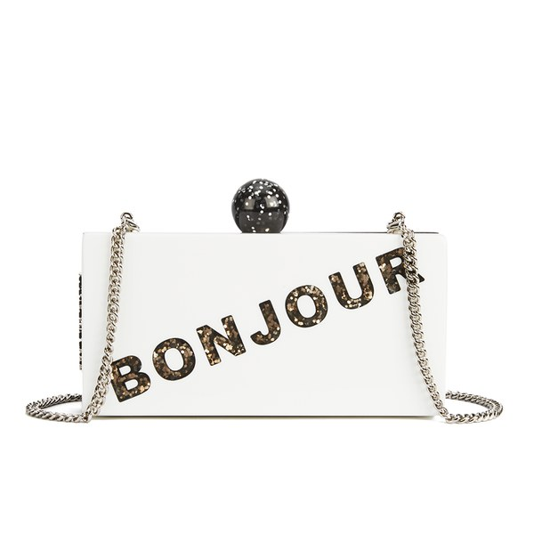 Karl Lagerfeld Seventees Women's K/Bonjour Clutch Bag - Black/White