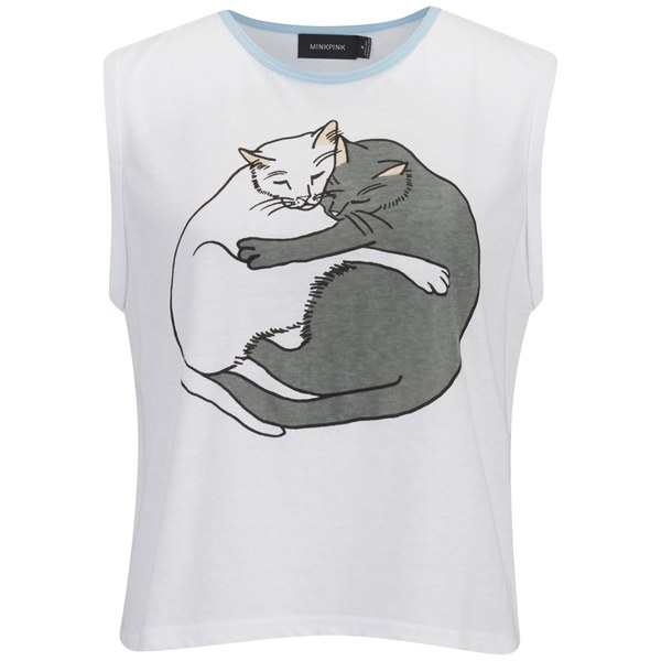 MINKPINK Women's Yin Yang Kitty T-Shirt - Multi