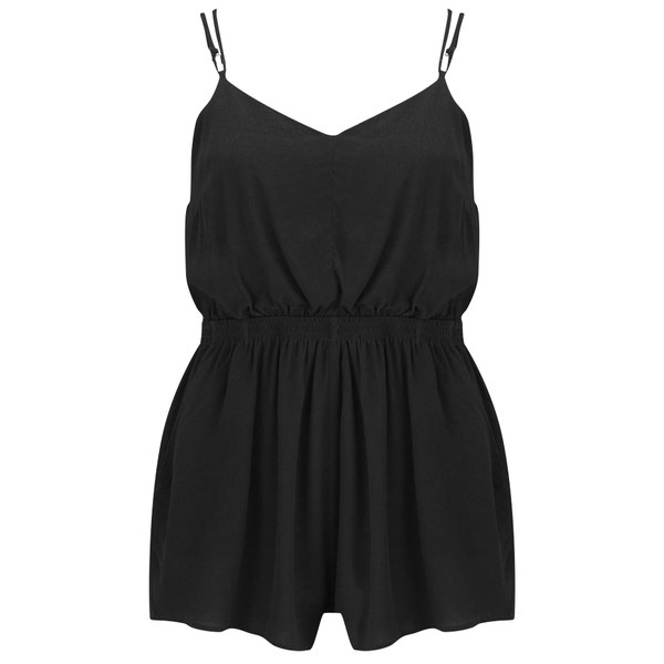 MINKPINK Women's Summer Vacay Playsuit - Black