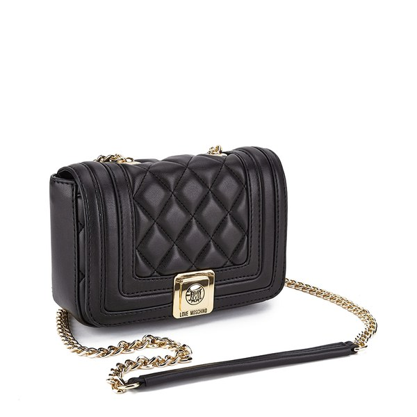 Love Moschino Women S Quilted Small Cross Body Bag Black Image 2